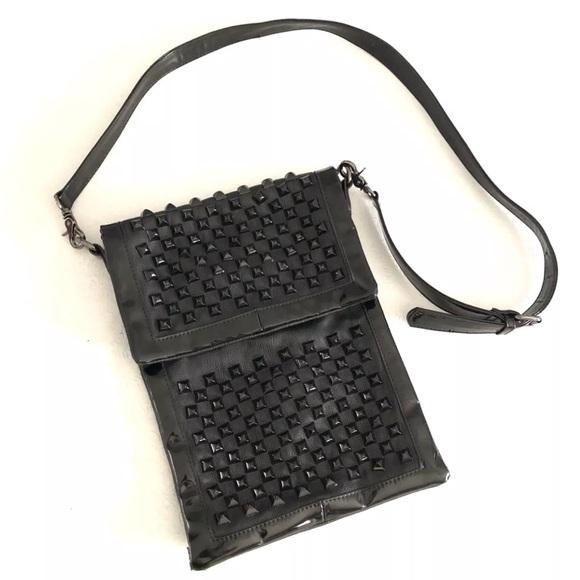 157f1a1e4ac7 Lionel Handbags - Lionel Black Studded Crossover Purse Flap Closure